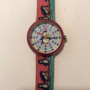 Accessories - vintage penguin watch with cloth strap